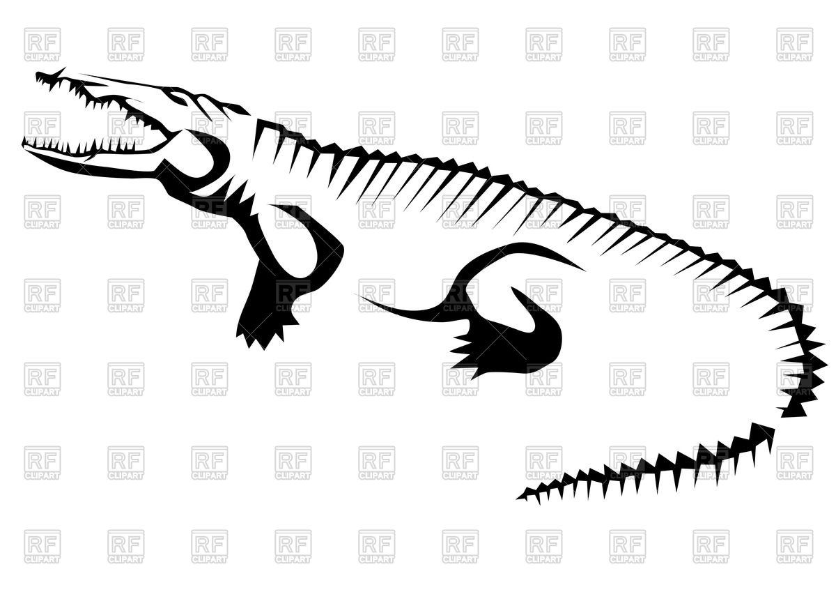 1200x849 Stylized contour of crocodile (alligator)