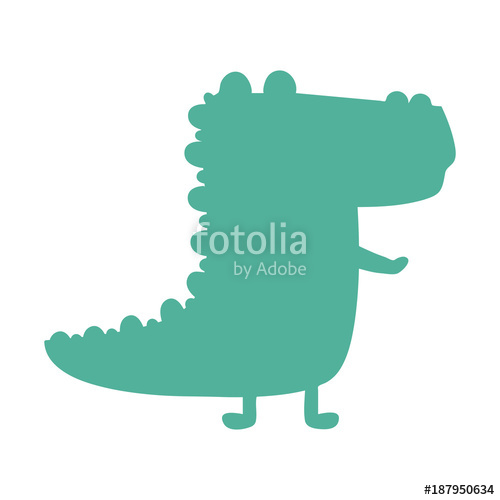 500x500 alligator silhouette icon Stock image and royalty free vector