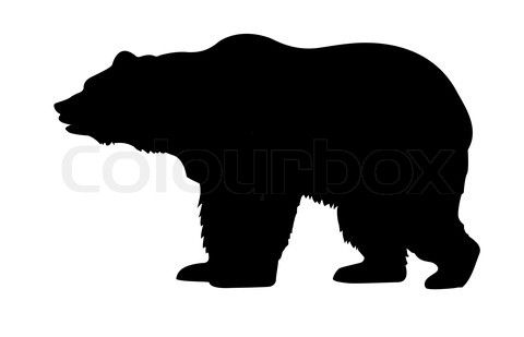 480x309 bear clipart black and white Stock image of