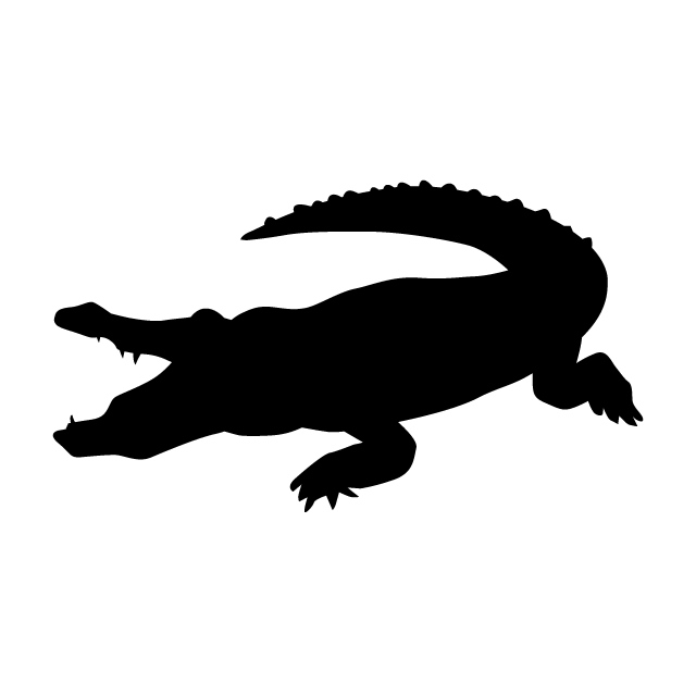 640x640 crocodile Animal silhouette Free illustrations