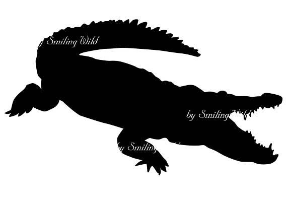 570x403 crocodile svg silhouette clipart animal cut out file vector