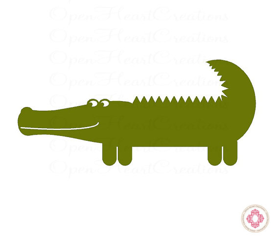 570x489 Alligator Vinyl Wall Decal
