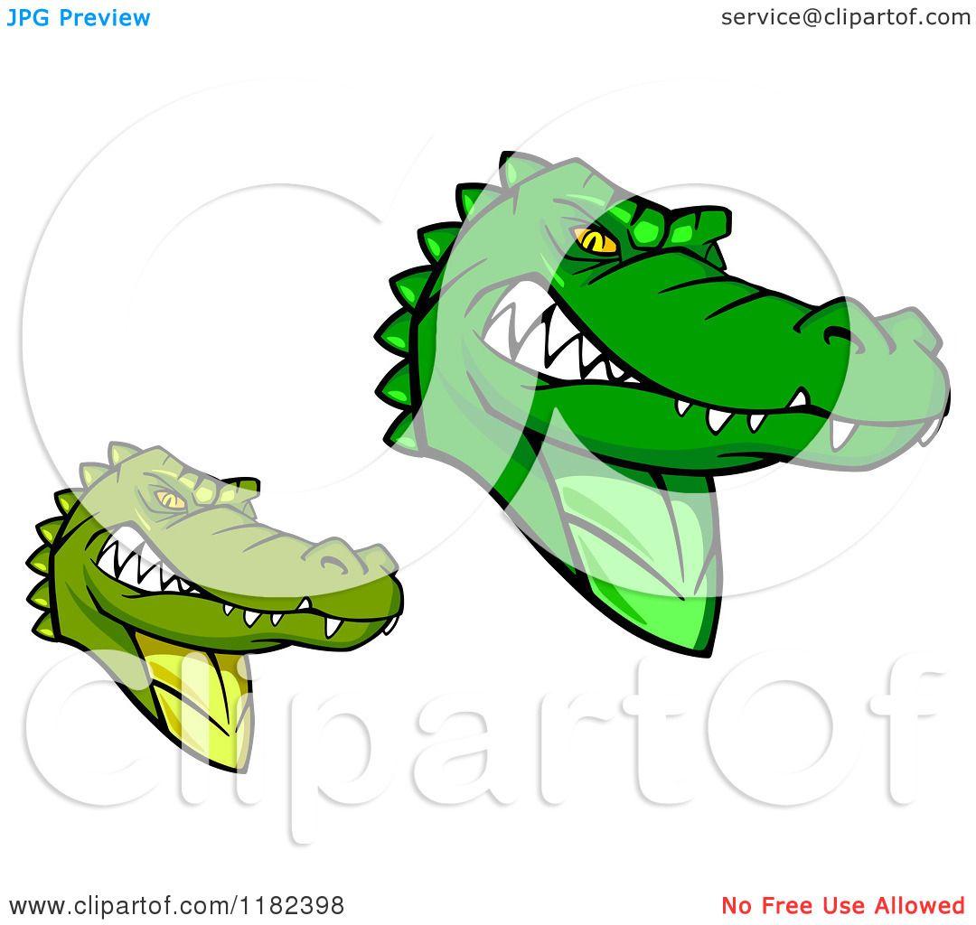 1080x1024 Clipart Of Tough Green Alligator Mascots
