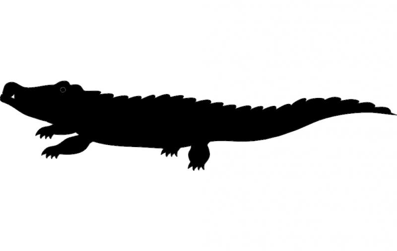 800x505 Crocodile Silhouette Vector Dxf File Free Download
