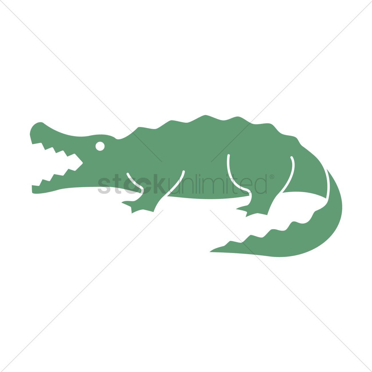 1300x1300 Crocodile Vector Image