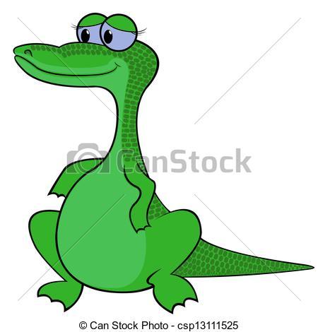 450x470 Crocodile Vector Illustration. Crocodile Isolated On White