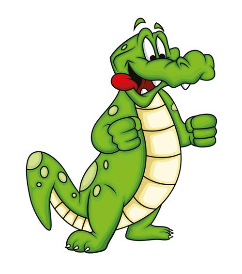 500x565 Cute Crocodile Cartoon Styles Vectors 10
