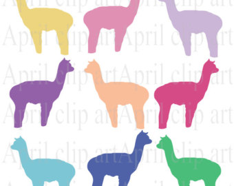Alpaca Silhouette Clip Art