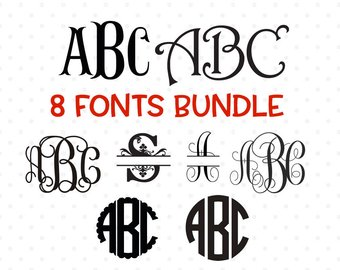 340x270 Silhouette Fonts Etsy