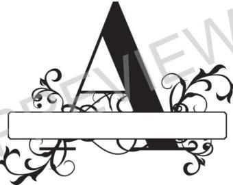 340x270 Split Monogram Svg, Letter R Regal Split Alphabet, Vector Files