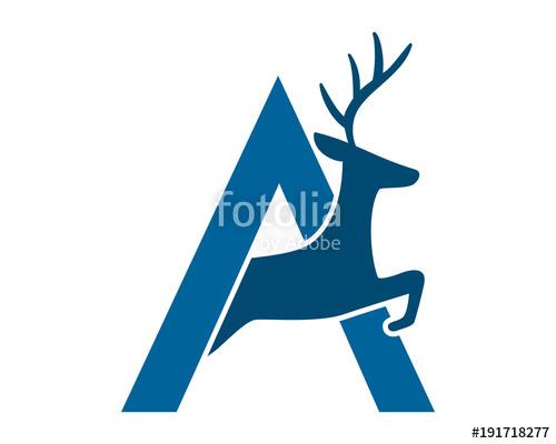 500x400 Alphabet Deer Reindeer Deer Elk Stag Image Vector Icon Logo