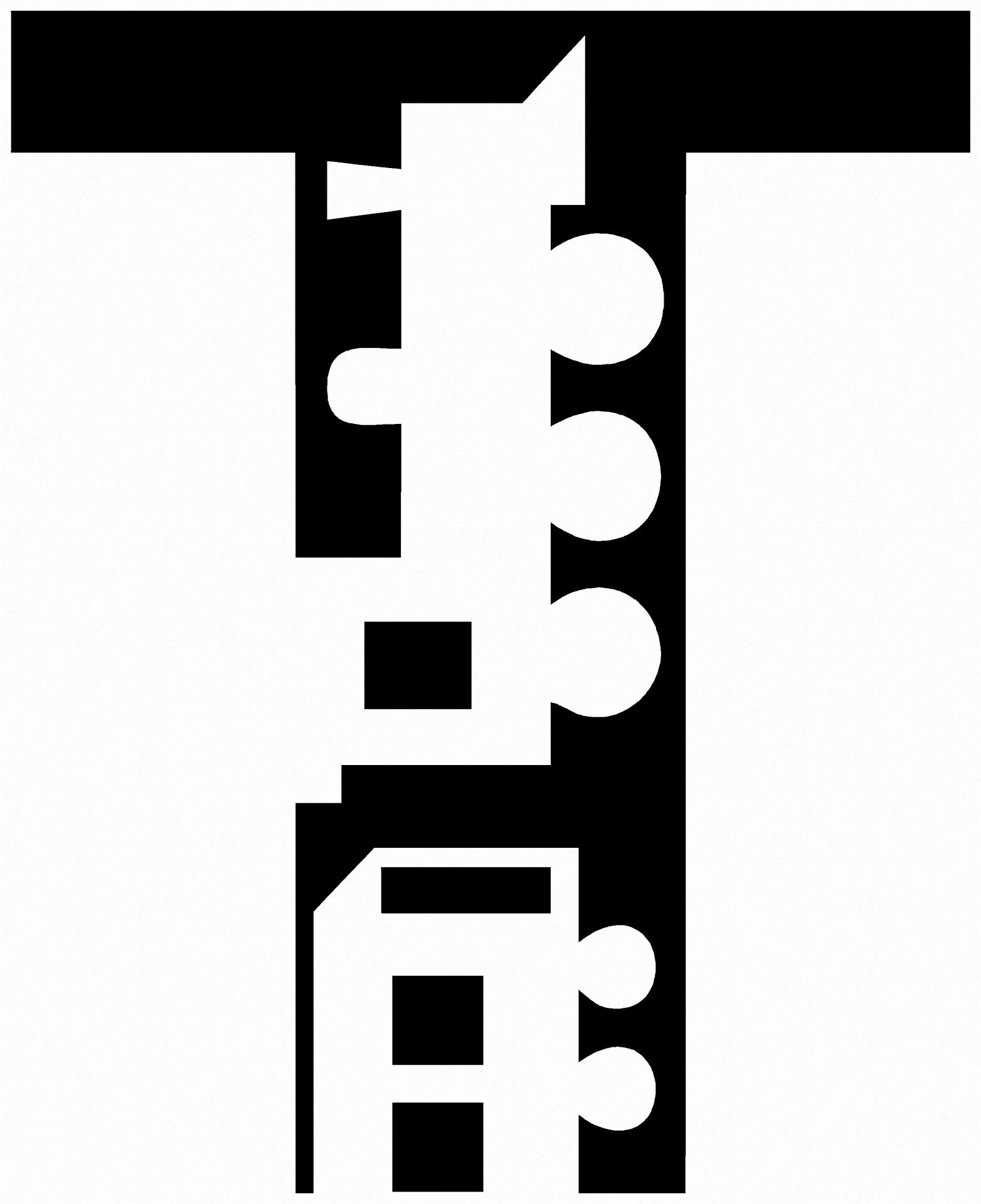 1564x1920 Alphabet Silhouette Letter T Free Stock Photo