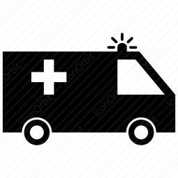 256x256 Ambulance Silhouette Icon