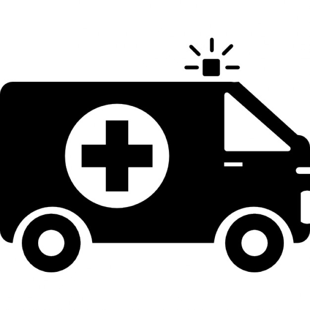 626x626 Ambulance With First Aid Sign Icons Free Download