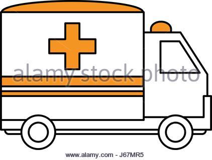 422x320 Ambulance Truck Icon Image Vector Illustration Design Stock Vector
