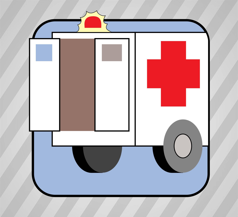 3000x2737 Ambulance Silhouette