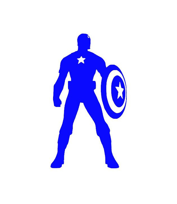 570x656 Captain America Silhouette Vinyl Decalumper Sticker Marvel