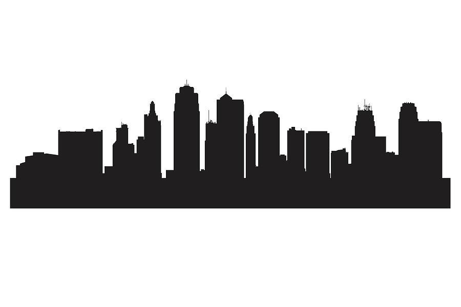 900x600 Kansas City Skyline Silhouette Digital Art By Anna Maloverjan