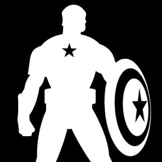 320x320 Marvel Comics Captain America Silhouette Emblems For Battlefield