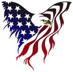 236x233 American Eagle Flag