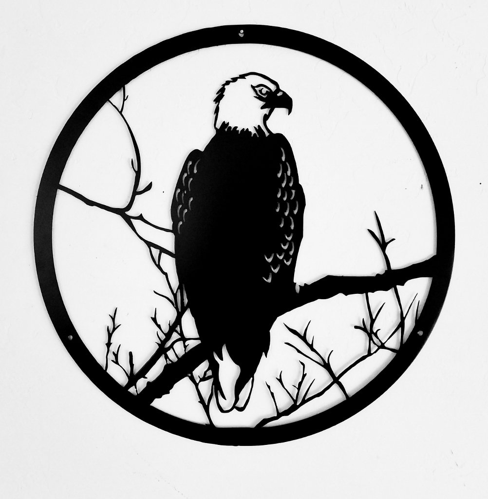 1002x1024 Eagle Wildlife Metal Art Scene Wildlife Or Animal Wall Art