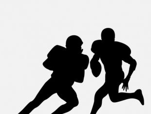 310x233 American Football Player Silhouettes Collection Free Vectors