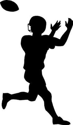 236x404 American Football Player Silhouette Black Vinyl Art Wall Decal