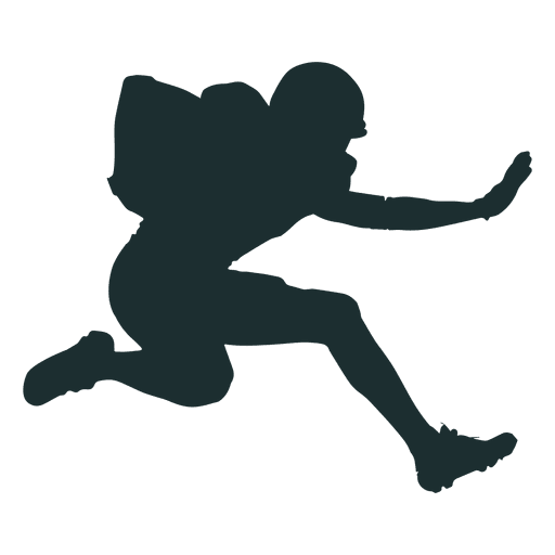 512x512 Jumping American Football Player Silhouette