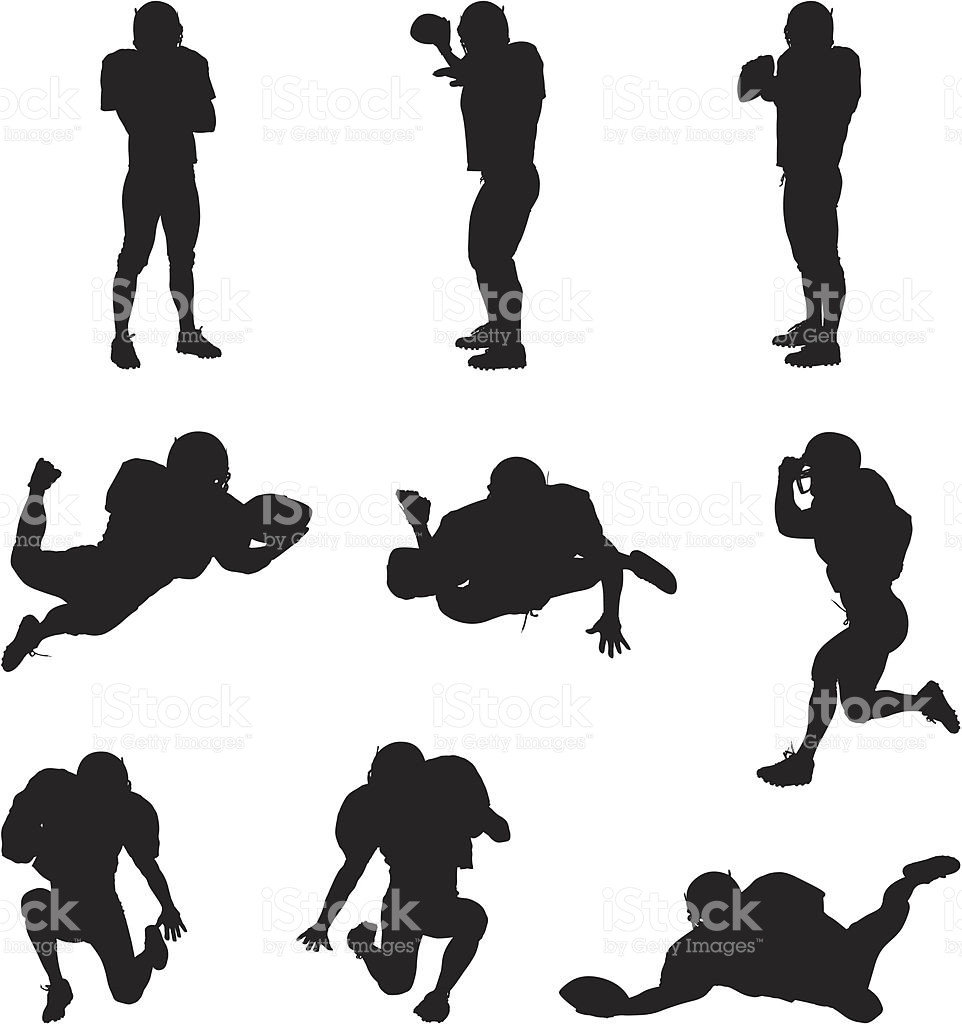 962x1024 American Football Player Silhouette Vector Free Fiscalreform