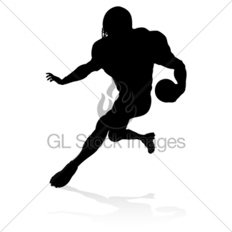 325x325 American Football Player Silhouette Gl Stock Images