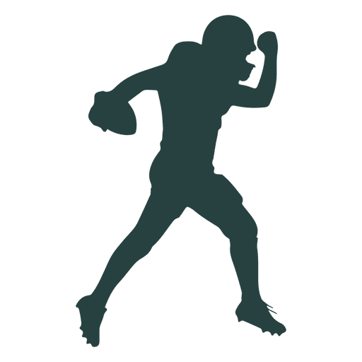 512x512 American Football Player Throwing Ball Silhouette