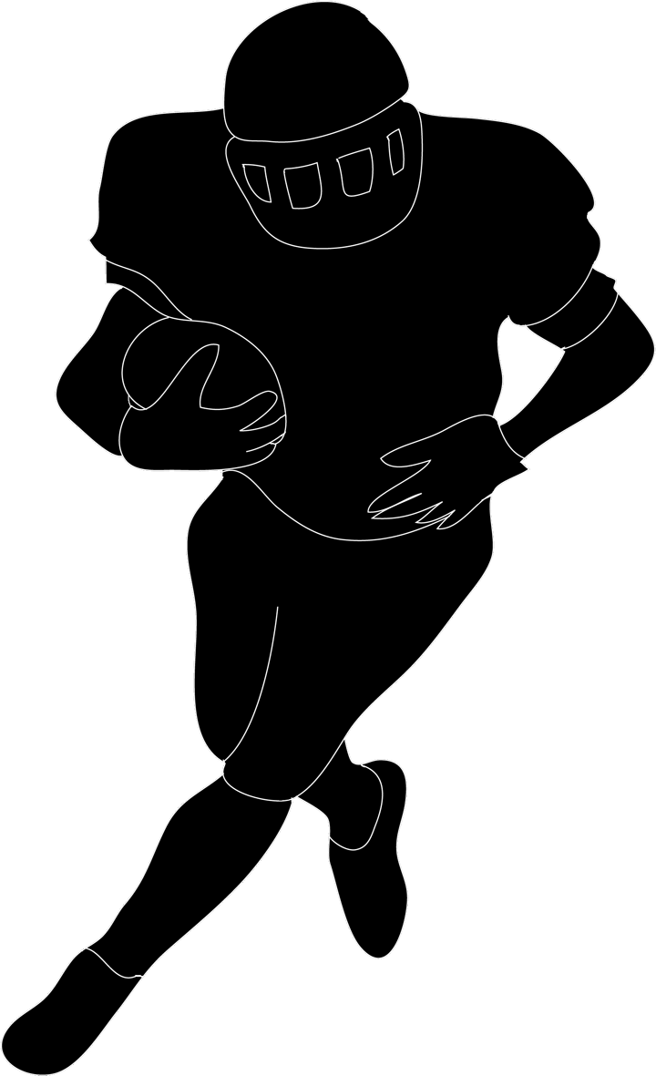 720x1181 Footballer Silhouette Free Vector 123freevectors Striking Football