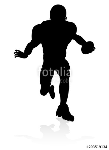 366x500 American Football Player Silhouette Stock Image And Royalty Free