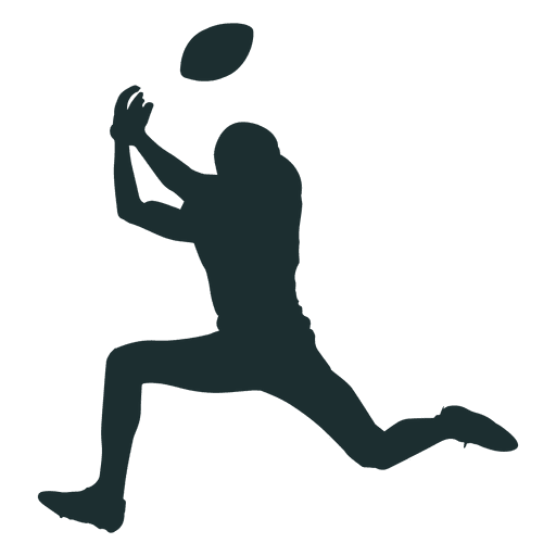 512x512 American Football Player Catching Silhouette
