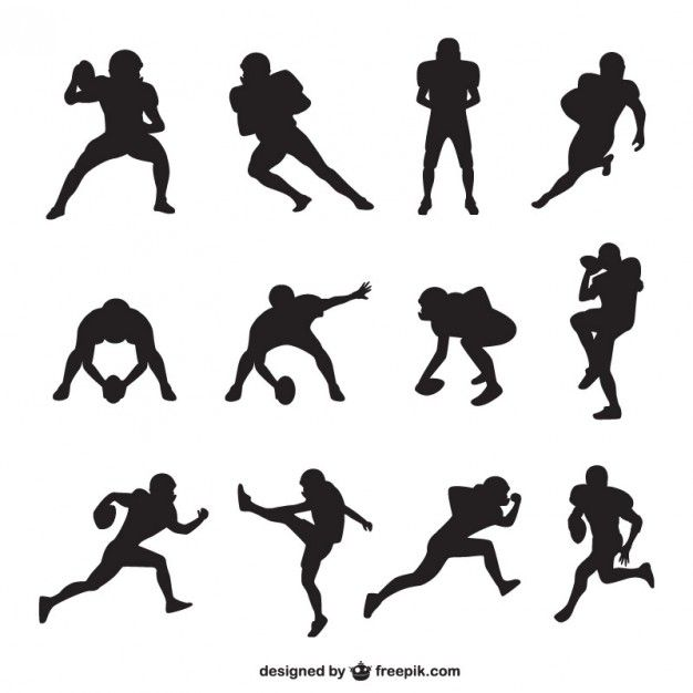 626x626 American Football Player Silhouettes Collection Sports