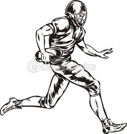 428x450 American Football. Stockvectorbeeld 1s Sport Silhouettes
