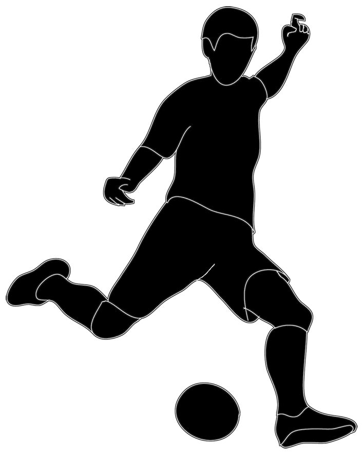 709x886 Football Player Clipart 2 Football Clip Art Black Image 2
