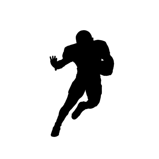 512x512 Free Silhouette Football Player, Hanslodge Clip Art Collection