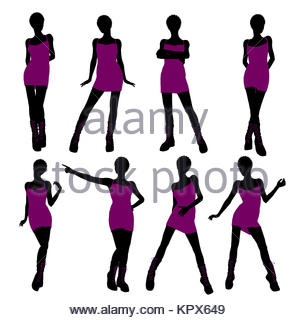 300x320 An African American Girl Silhouette Punk Girl On A White