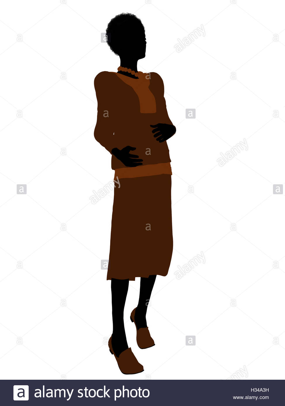 975x1390 Conservative African American Female Silhouette Stock Photo