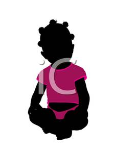225x300 Silhouette Of An African American Toddler Girl Sitting With Her