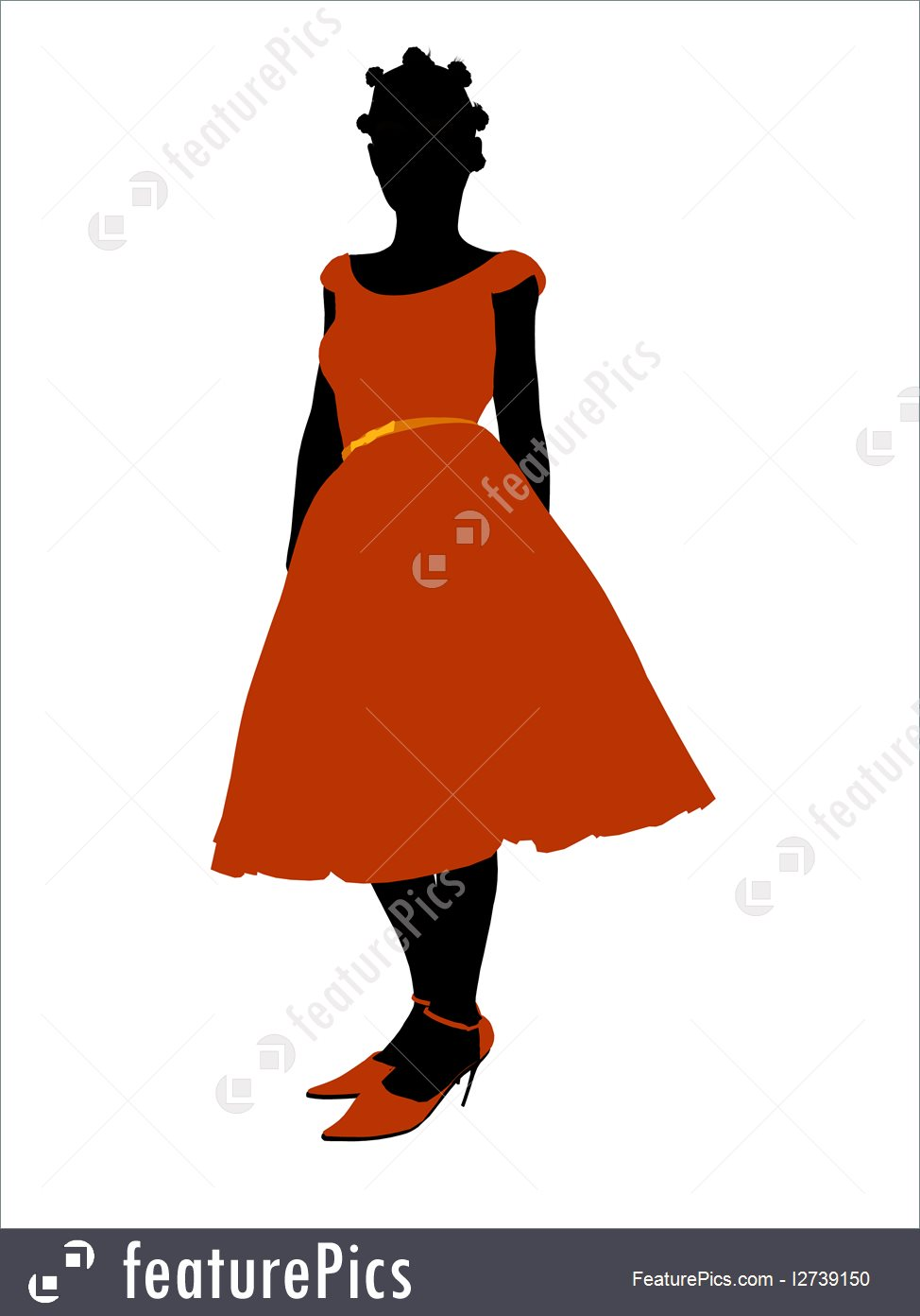 974x1392 Silhouettes And Outlines Prom Girl Silhouette