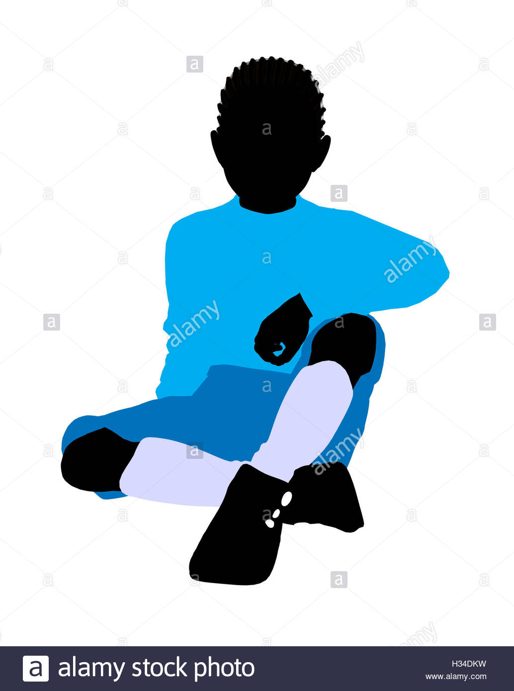 1034x1390 African American Boy Illustration Silhouette Stock Photo