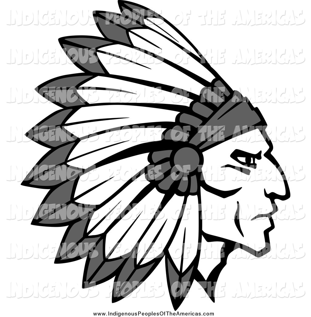 1024x1044 Native American Head Clipart Free Silhouette