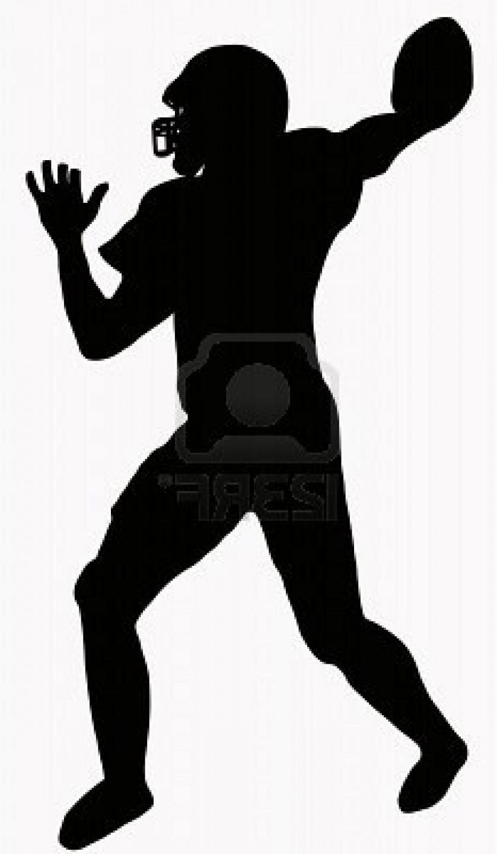 838x1440 Quarterback Silhouette Clipart
