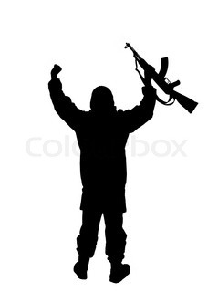 239x320 Silhouette Of Us Soldier Stock Photo Colourbox