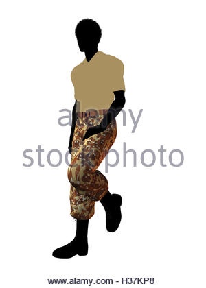 300x420 African American Soldier Illustration Silhouette Stock Photo