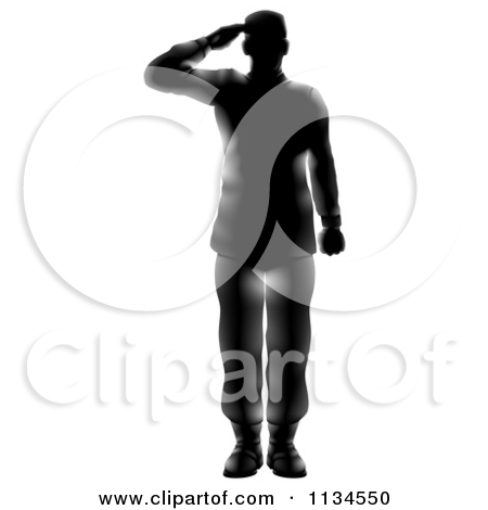 450x470 American Soldier Saluting Clipart