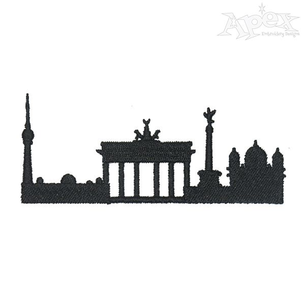 600x600 Berlin Embroidery Design States And Cities Embroidery Designs