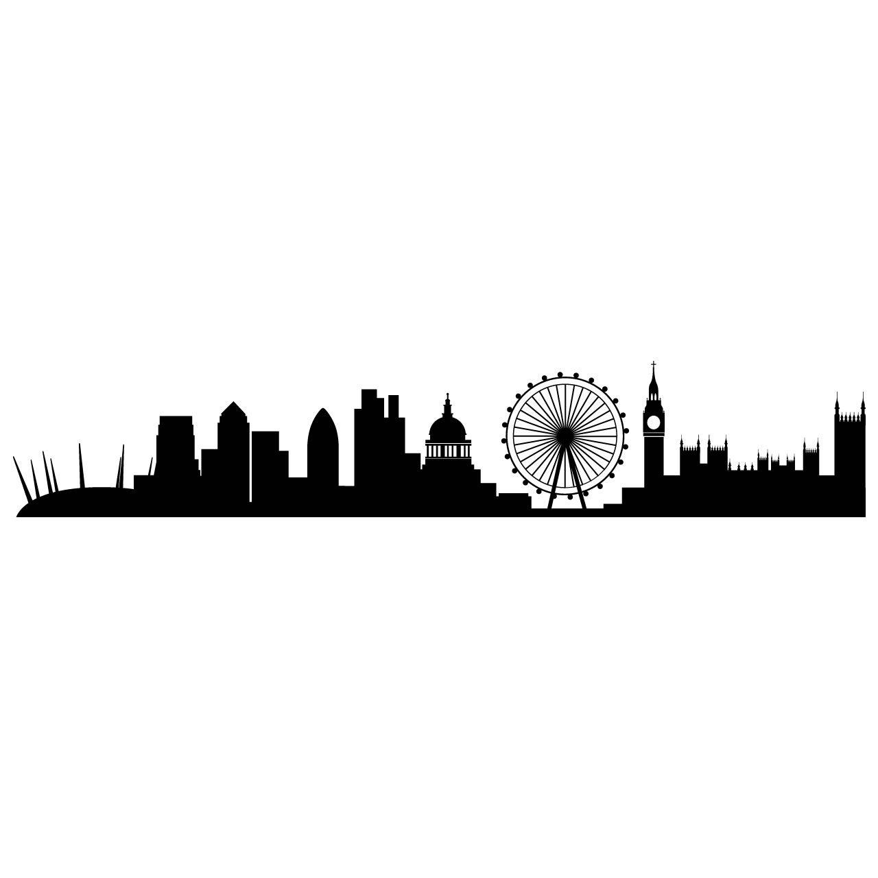 1280x1280 London Skyline Sticker Gus London Skyline